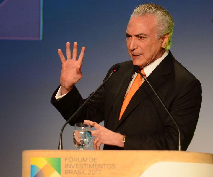 São Paulo - Presidente Michel Temer participa da abertura do Fórum de Investimentos Brasil 2017 (Rovena Rosa/Agência Brasil)
