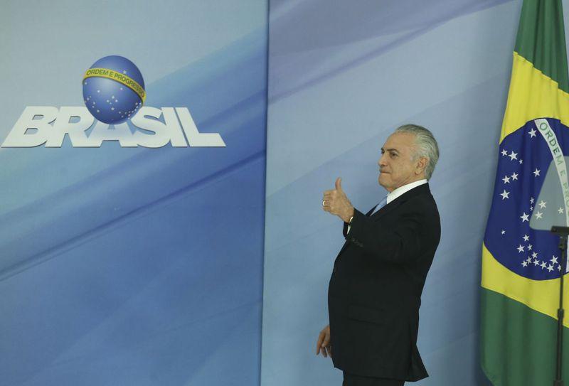 Brasília - O presidente Michel Temer se pronuncia após a aprovação do relatório que desautoriza o STF a investigá-lo (Valter Campanato/Agência Brasil)